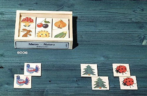 Atelier Fischer Wooden Nature Memory Game in Wooden Box (48 Tiles / 24 Matching Pairs)-Atelier Fischer-Challenge & Fun, Inc.