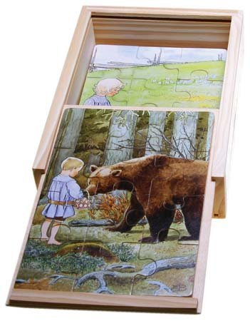 Elsa Beskow Wooden Puzzle in Box