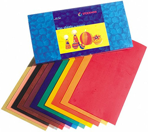Stockmar Decorating Natural Bees Wax Sheets 12 Assorted Colors-Challenge & Fun, Inc.