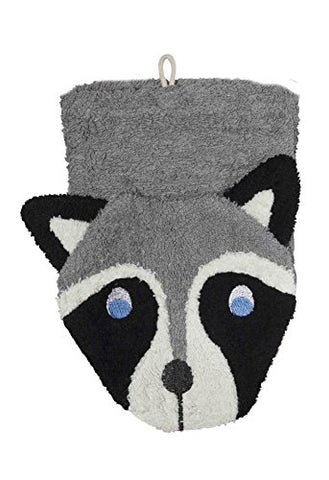 Furnis Organic Cotton Wash Mitt - Raccoon Puppet Child Size