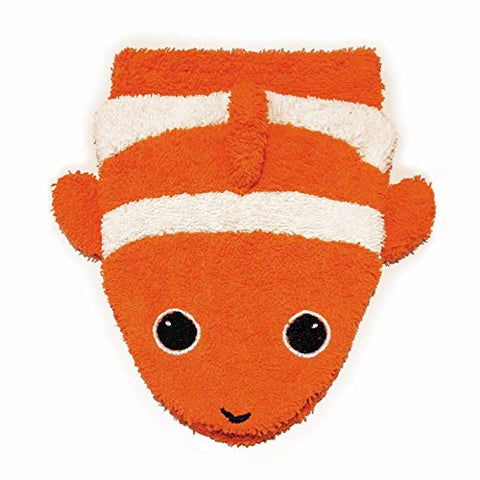 Furnis Organic Cotton, Washcloth Mitt Clownfish Puppet, Child Size