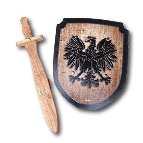 Wooden Sword and Shield Set - Eagle