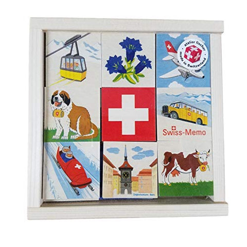 Atelier Fischer Wooden Swiss Memo Game (48 Pieces - 24 Pairs)-Atelier Fischer-Challenge & Fun, Inc.