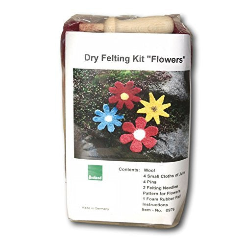 "Dry Felting Kit ""Flowers""-Challenge & Fun, Inc."