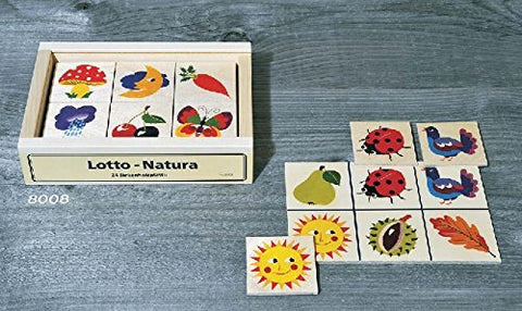 Atelier Fischer Wooden Nature Lotto Game in Wooden Box (24 Tiles / 4 Wooden Playing Boards)-Atelier Fischer-Challenge & Fun, Inc.