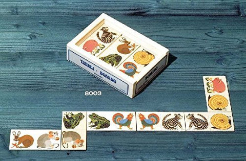 Atelier Fischer Wooden Animal Domino Game in Wooden Box (28 Tiles)-Atelier Fischer-Challenge & Fun, Inc.
