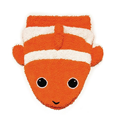 Organic Cotton, Washcloth Mitt Clownfish Puppet, Large by Furnis