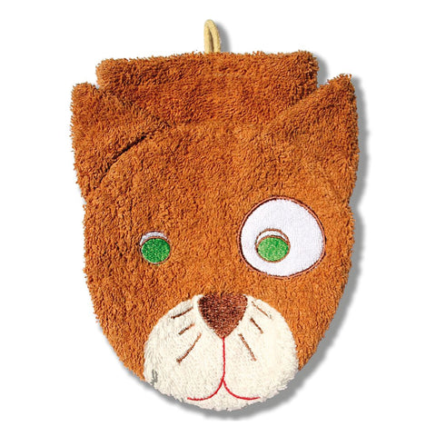 Washcloth Puppet Mitt - Cat - challenge and fun natural toys