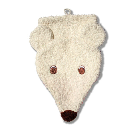 Washcloth Mitt--Polar Bear - challenge and fun natural toys