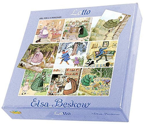 Hjelms Colorful Elsa Beskow Lotto Game (4 Cards - 36 Tiles)