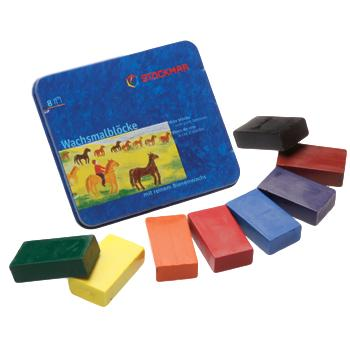 Stockmar Block Crayons - 8 standard Colors in tin case-Challenge & Fun, Inc.