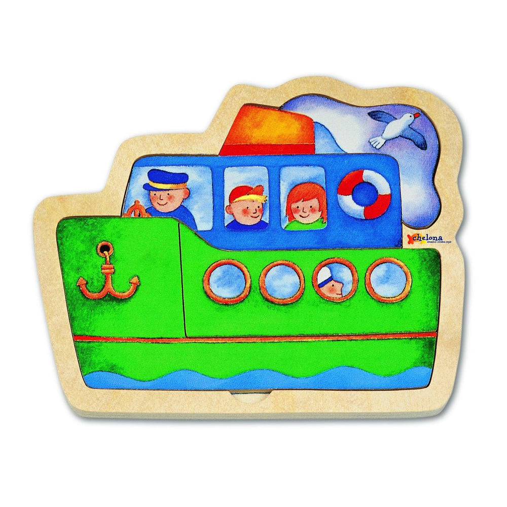 Chelona Mini Discovery Puzzle - Ship - challenge and fun natural toys - 2
