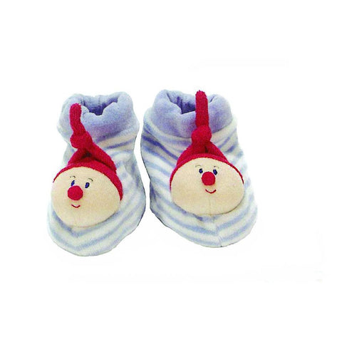 Oko-Tex Baby Booties, blue and white - challengeandfunretail