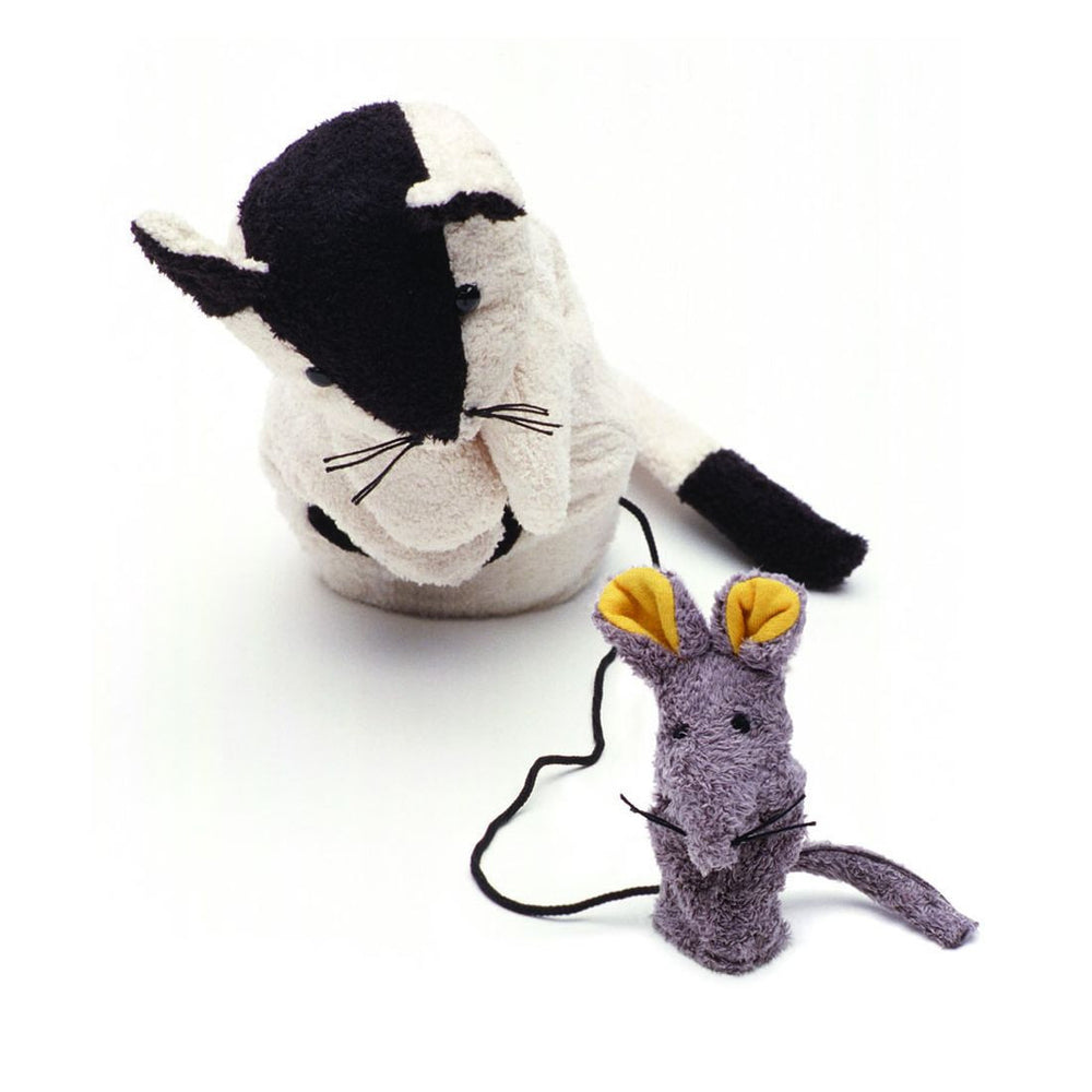 Cat and Mouse Puppet by Furnis - challenge and fun natural toys