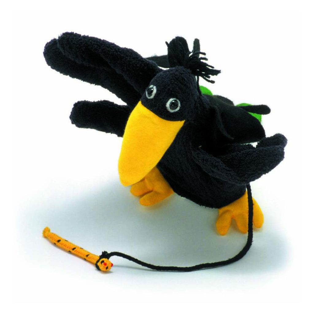 Vincent Crow Puppet by Furnis - challenge and fun natural toys