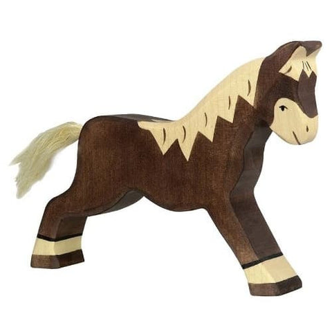 Holztiger Wooden Brown Horse, Running