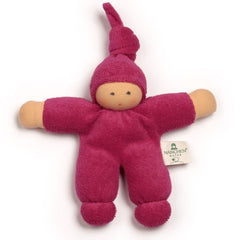 "Nanchen Small Organic Cotton Waldorf Doll ""Pimpel"" - challenge and fun natural toys - 10"