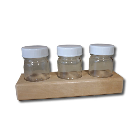 Wooden Paint Jar Holder with 2 oz Jars