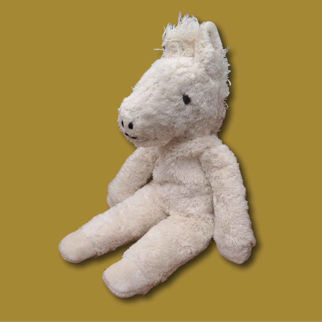 Senger Organic Cotton White Horse - challenge and fun natural toys