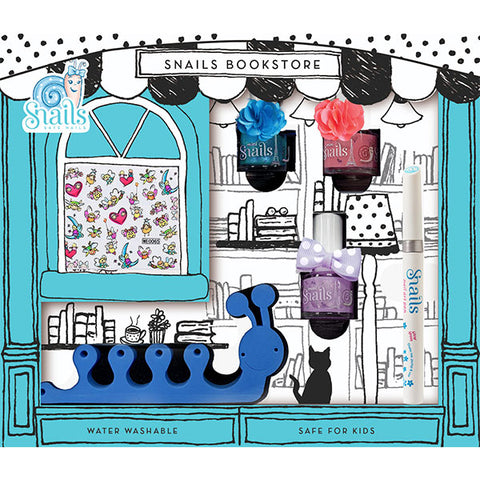Snails World Bookstore - Nail Polish & Pedicure Set (4)