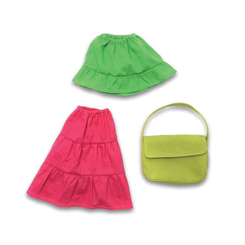 2 Skirts and Purse for Furnis Dolls - challenge and fun natural toys