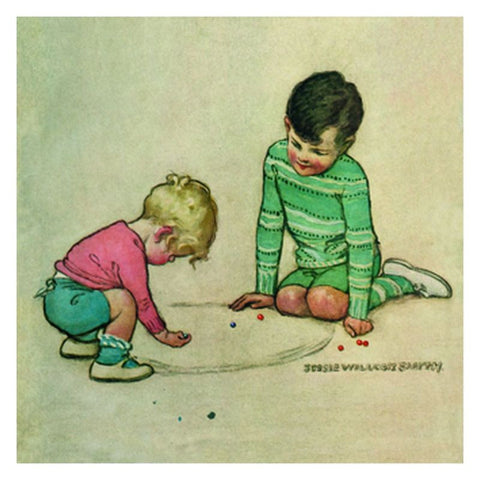 Jessie Willcox Smith Greeting Cards : Playing Marbles - challengeandfunretail