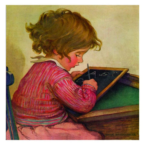 Jessie Willcox Smith Greeting Cards : Girl with Slate - challengeandfunretail