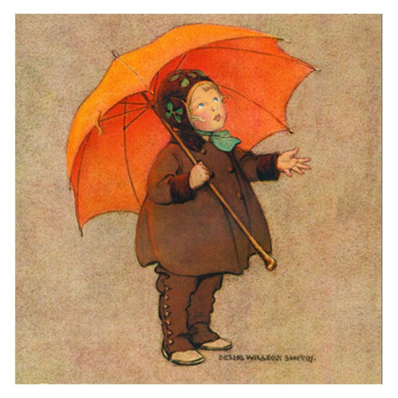 Jessie Willcox Smith Greeting Cards : Child with Umbrella - challenge and fun natural toys