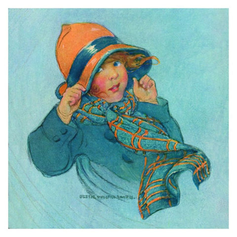 Jessie Willcox Smith Greeting Cards : Girl with Orange Hat - challengeandfunretail