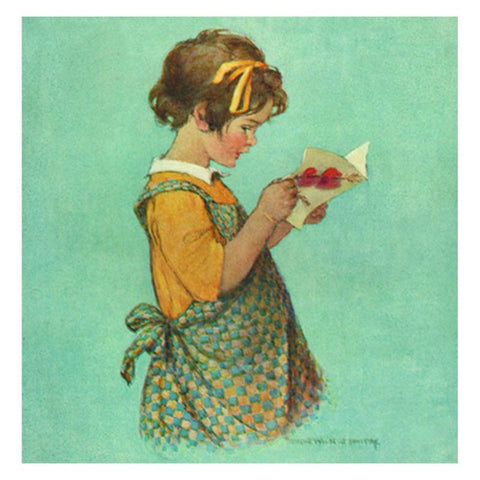 Jessie Willcox Smith Greeting Cards : Girl with Valentine - challengeandfunretail