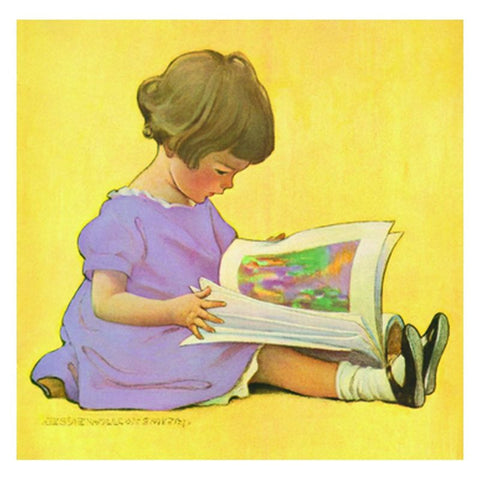Jessie Willcox Smith Greeting Cards :Girl with Book - challengeandfunretail