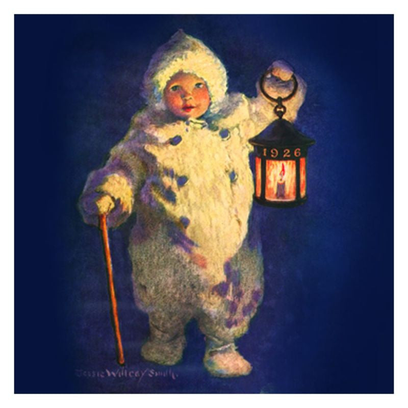Jessie Willcox Smith Greeting Cards : Child with Lantern - challengeandfunretail