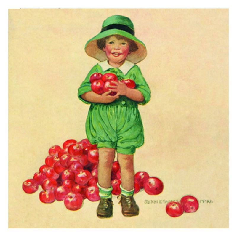 Jessie Willcox Smith Greeting Cards : Child with Apples - challengeandfunretail
