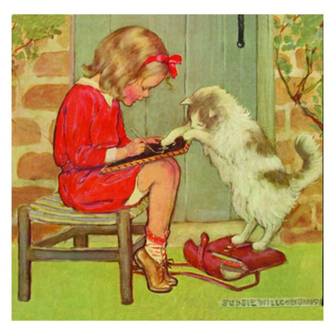 Jessie Willcox Smith Greeting Cards : Girl with Cat - challengeandfunretail