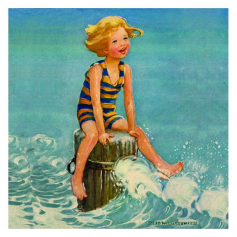 Stretched Canvas: Girl in Waves - challengeandfunretail