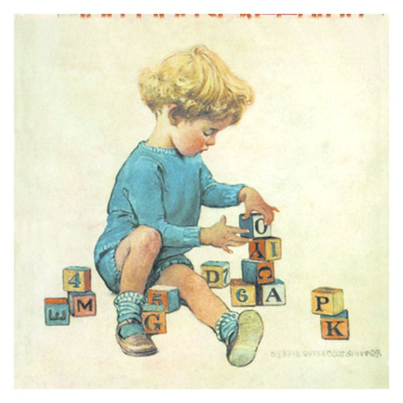Jessie Willcox Smith Greeting Cards : Boy with Blocks - challengeandfunretail