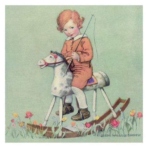 Jessie Willcox Smith Greeting Cards : Boy on Rocking Horse - challengeandfunretail