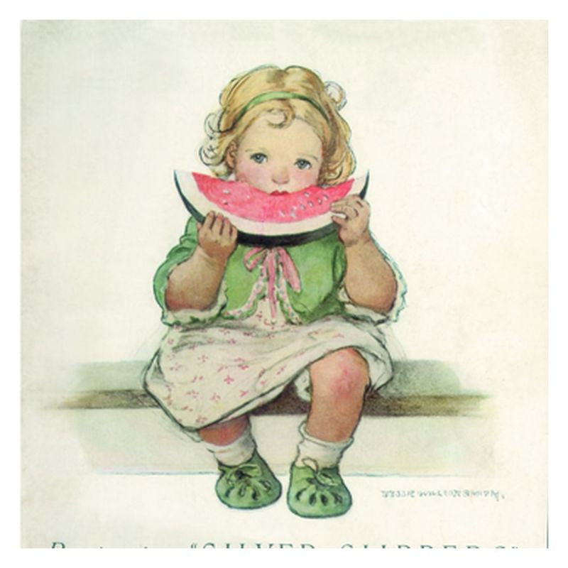 Jessie Willcox Smith Greeting Cards : Eating Watermelon - challengeandfunretail