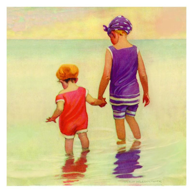 Jessie Willcox Smith Greeting Cards : Wading in the Water - challenge and fun natural toys
