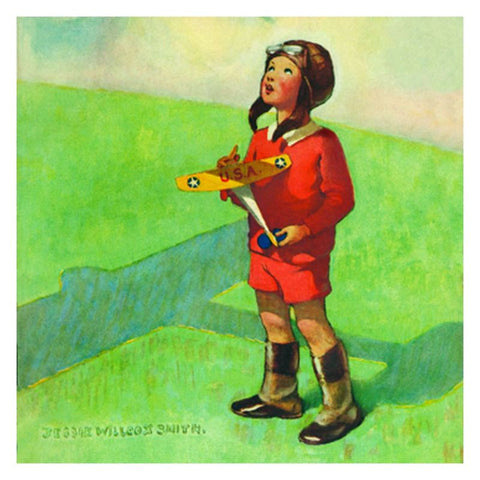 Jessie Willcox Smith Greeting Cards : Boy with Toy Airplane - challengeandfunretail