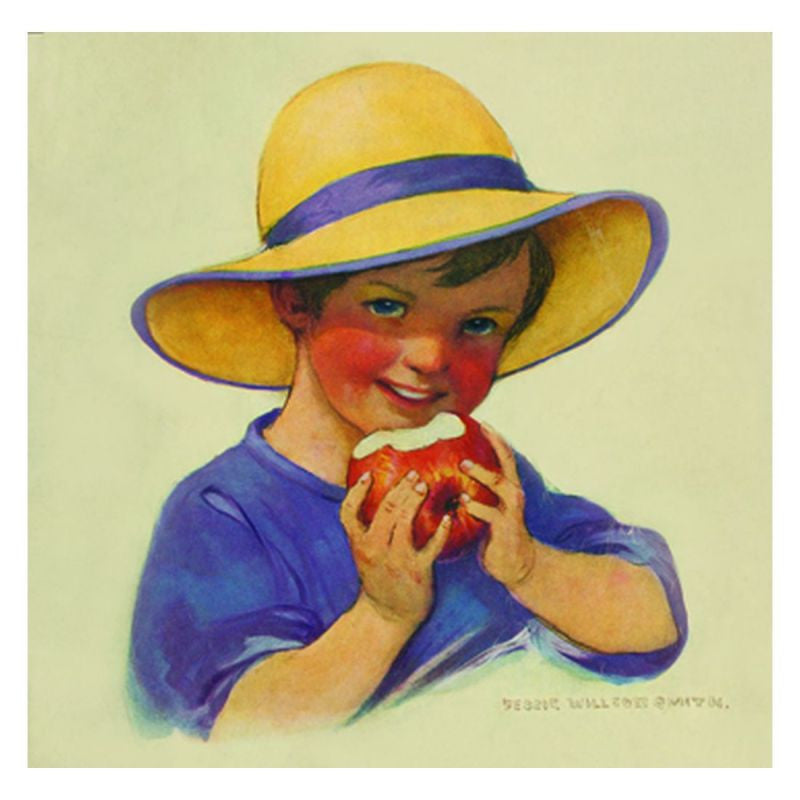 Jessie Willcox Smith Greeting Cards : Boy with Apple - challenge and fun natural toys