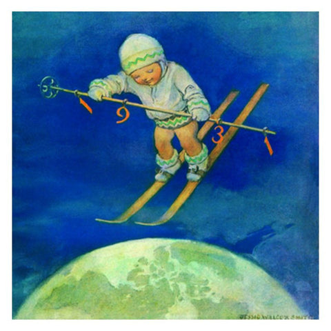 Jessie Willcox Smith Greeting Cards : Child with Skis - challenge and fun natural toys