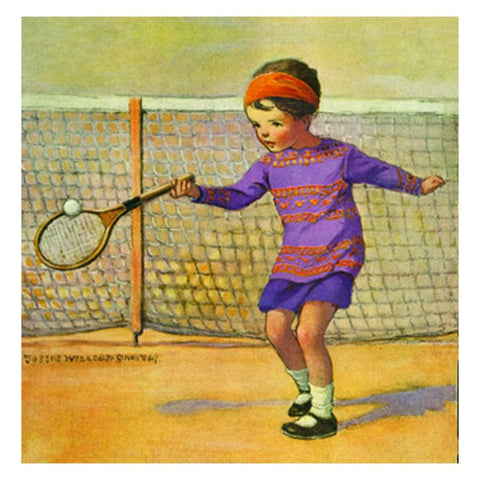 Jessie Willcox Smith Greeting Cards : Girl Playing Tennis - challengeandfunretail