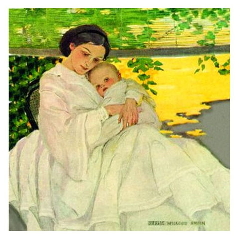 Jessie Willcox Smith Greeting Cards : Mother with Infant - challengeandfunretail