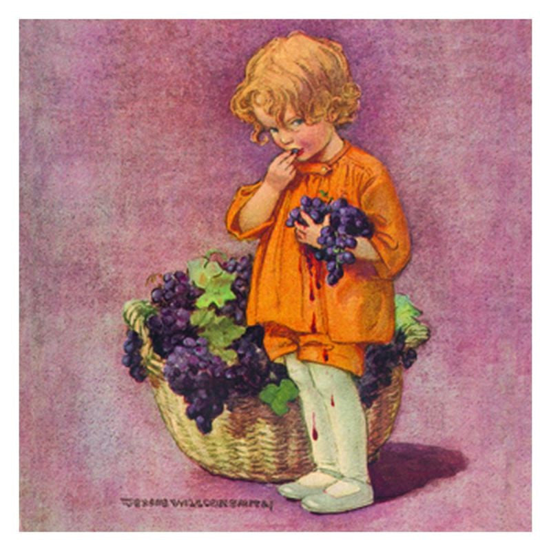 Jessie Willcox Smith Greeting Cards : Girl with Grapes - challenge and fun natural toys