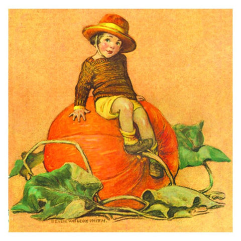 Jessie Willcox Smith Greeting Cards : Sitting on Pumpkin - challengeandfunretail