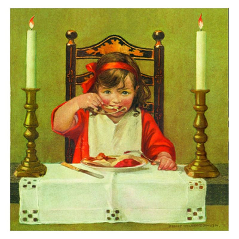 Jessie Willcox Smith Greeting Cards :Cleaning the Wishbone - challengeandfunretail