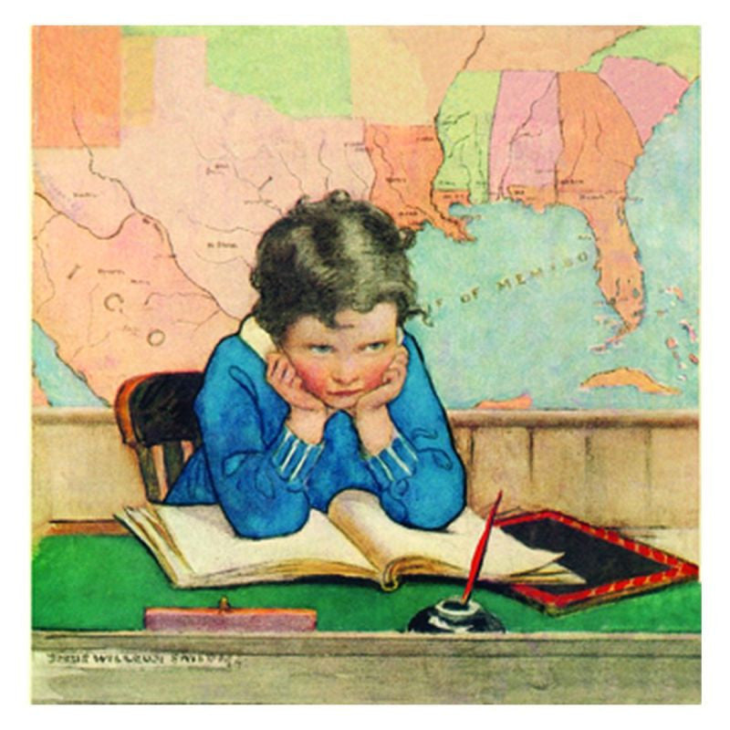 Jessie Willcox Smith Greeting Cards : Thinking - challenge and fun natural toys