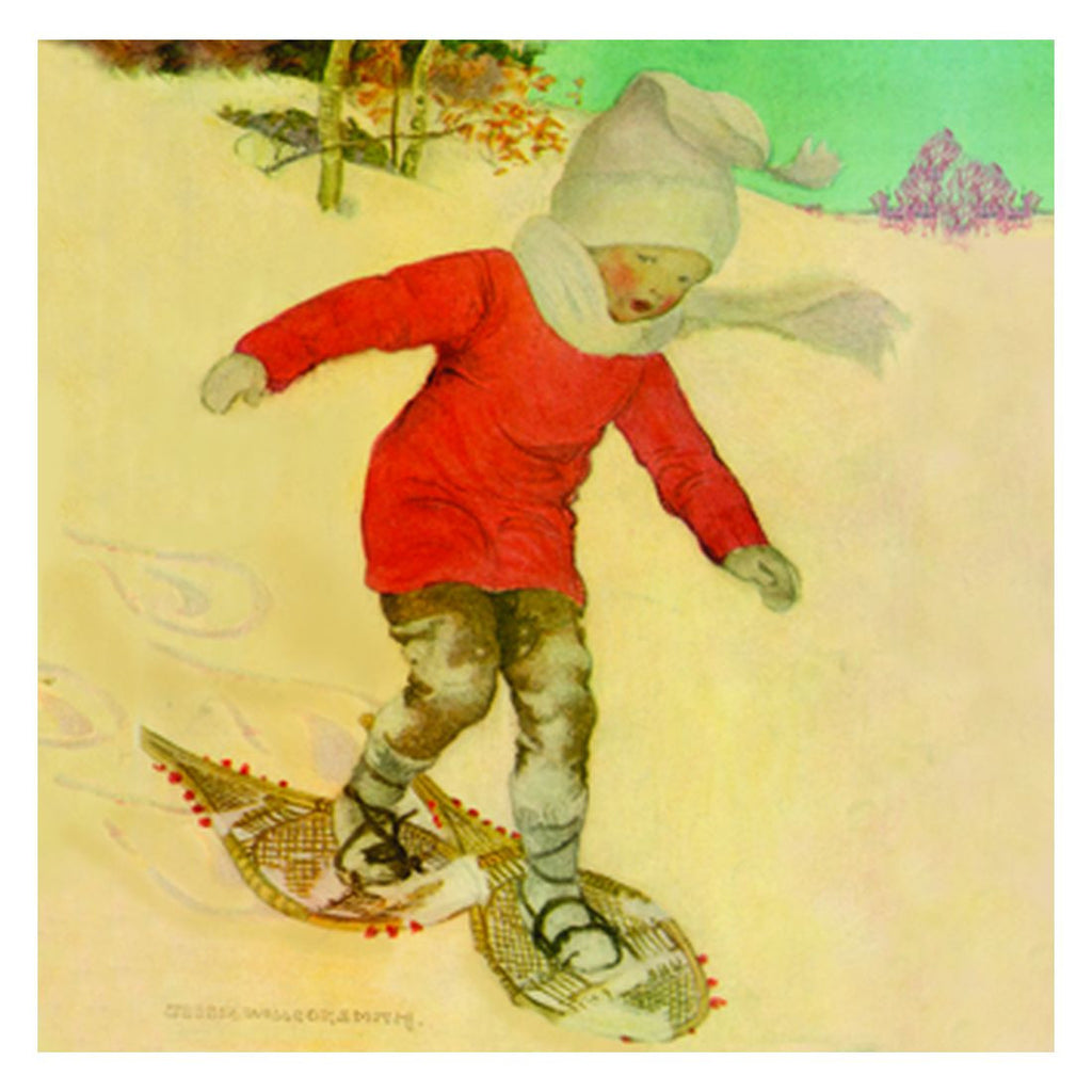 Jessie Willcox Smith Greeting Cards : Boy Snowshoeing - challengeandfunretail