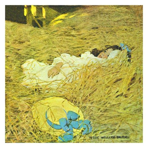 Jessie Willcox Smith Greeting Cards : The Hayloft - challenge and fun natural toys